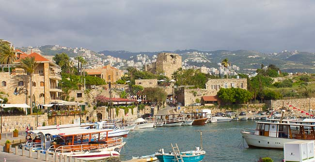 View over Byblos Harbour, Lebanon.