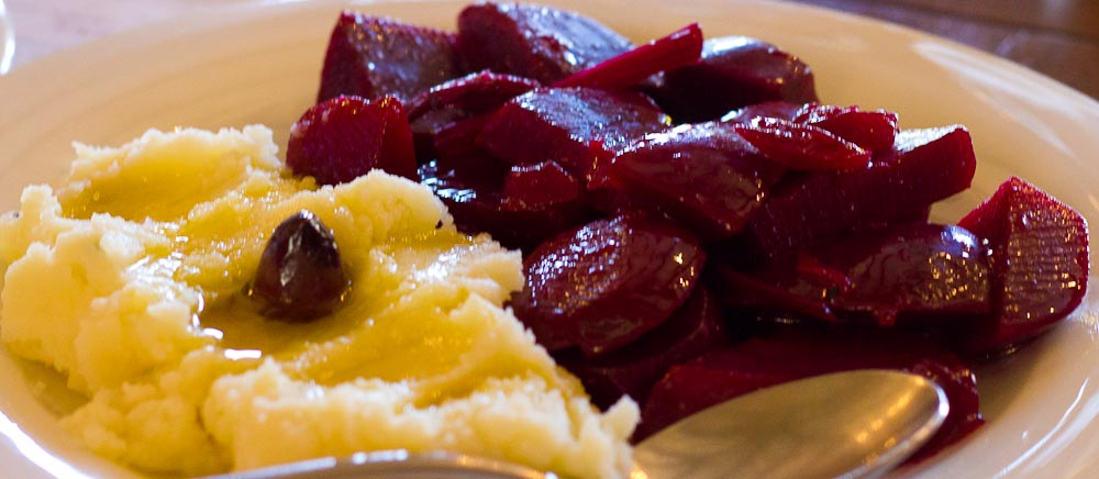 Beetroot and Mash at Sto Kioupi