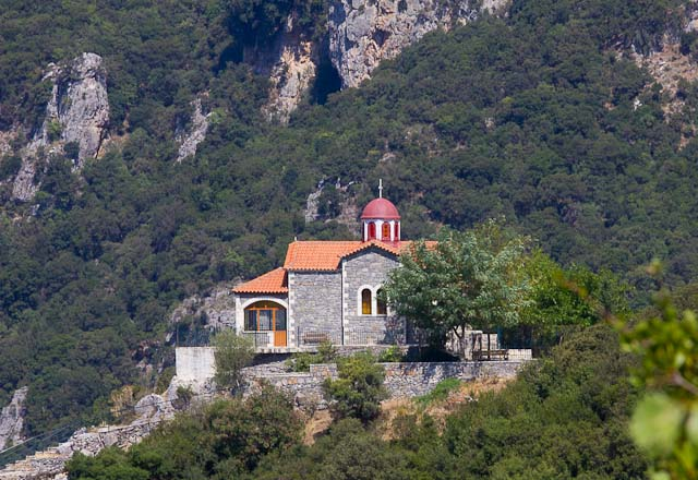monastery in the Lousios gorge, below Dimitsana, Greece.