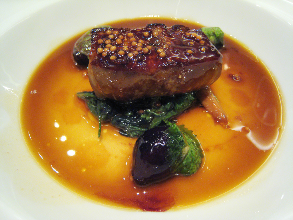 Foie gras at Guy Savoy, pic by Charles Harding.