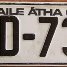 Irish License Plate
