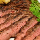 Mmm... grilled flat iron steak with cracked black peppercorns - by Jeffry M on Flick's creative commons