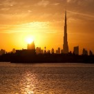 Sunset over Dubai.