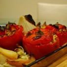 Greek-style stuffed peppers - gemista.