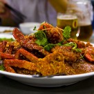 Chilli crab and cold beer - om nom nom nom.