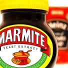 Marmite with Heinz soup in the background.