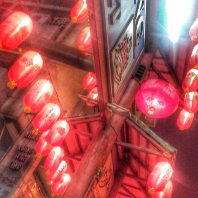 Lanterns at the entrance to Petaling Street night market.