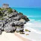 The temple of the winds on Tulum beach, Riviera Maya.