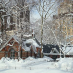 Tavern on the Green under snow in Central Park